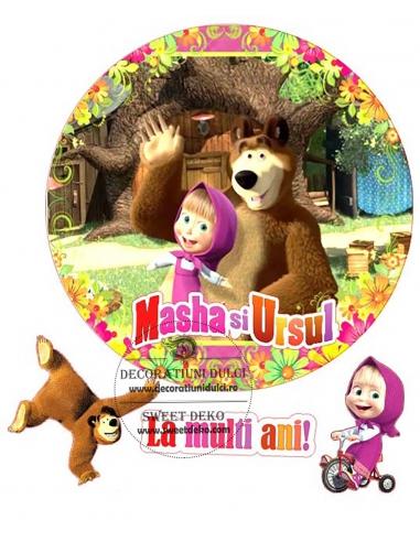 Poza comestibila Ursul si Masha