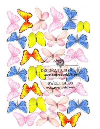 Imagine comestibila Fluturi pastel