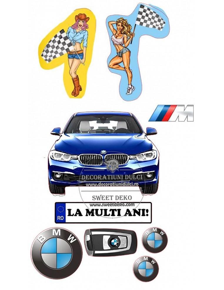 Imagine comestibila BMW & ladies