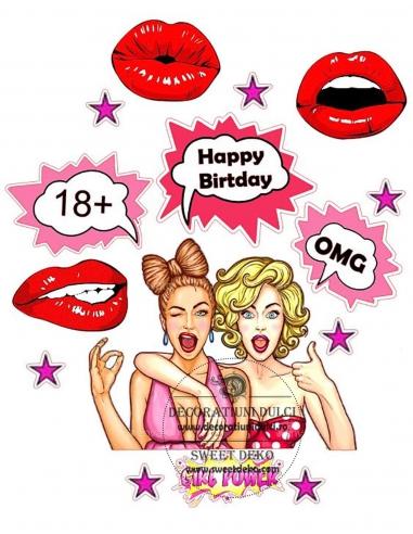 Poza pentru tort Girl Power 20-30