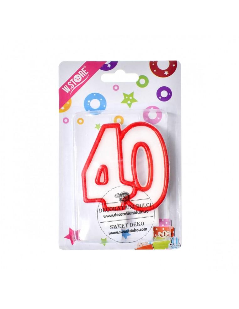 Lumanare aniversara, pentru tort 40 ani