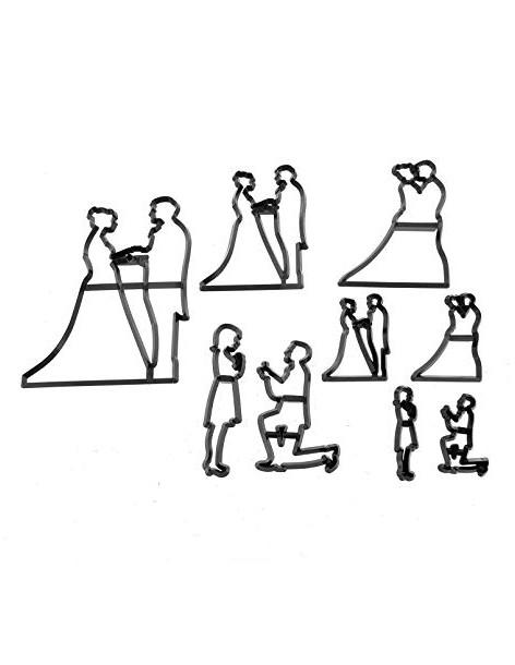 Decupatoare siluete cuplu