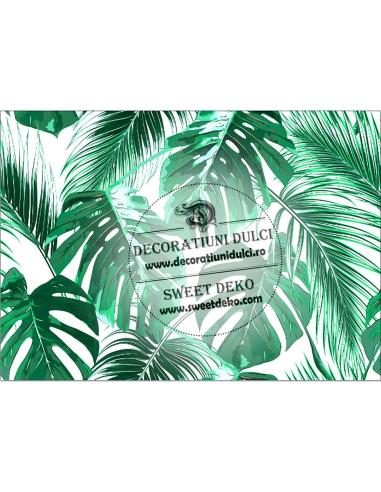 Imagine comestibila frunze tropicale