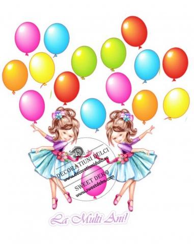Imagine comestibila Fetita cu baloane