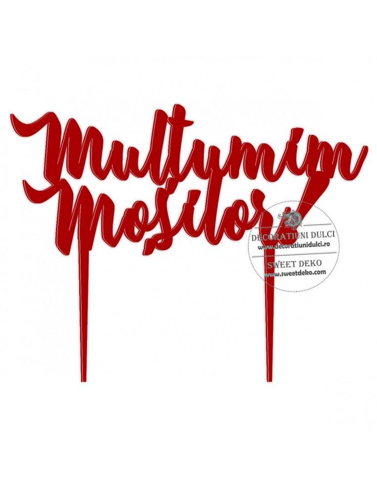 Topper Multumim Mosilor, plexi