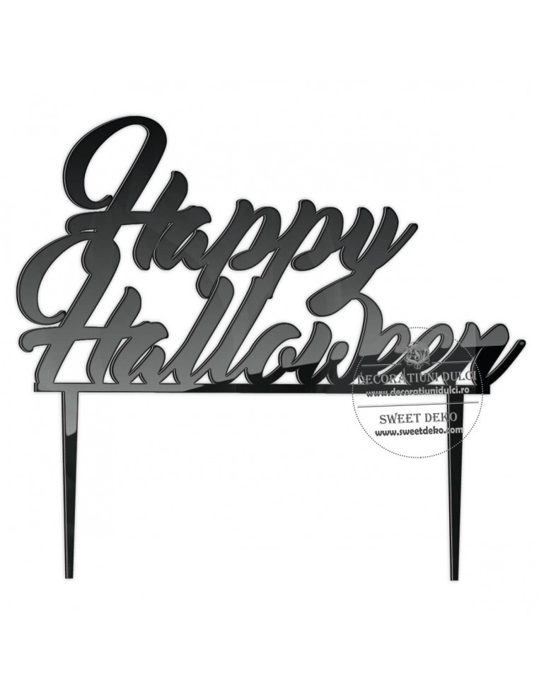 Topper Happy Halloween, plexiglas