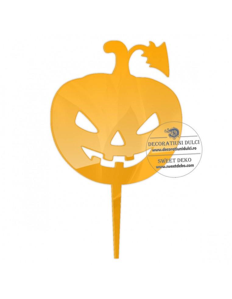 Topper dovleac Halloween, plexiglas