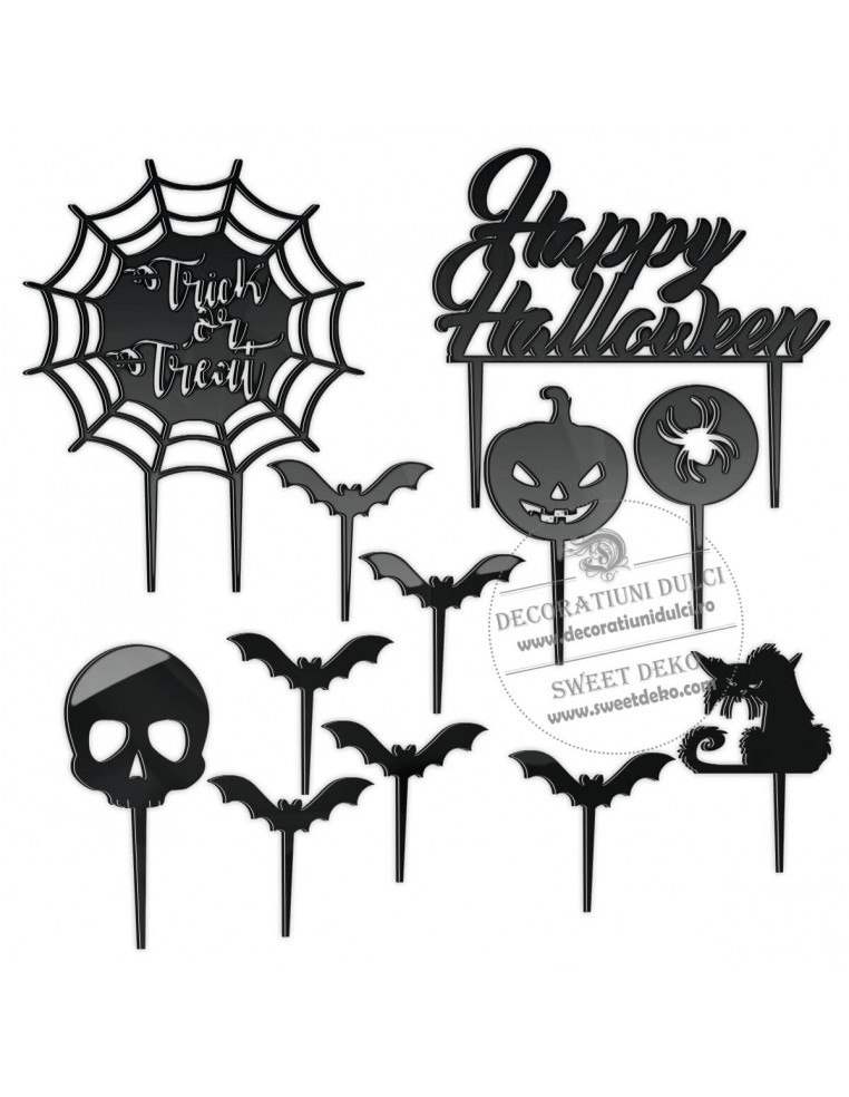Set Topper Halloween, plexiglas
