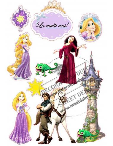 Imagine comestibila Rapunzel, printul...