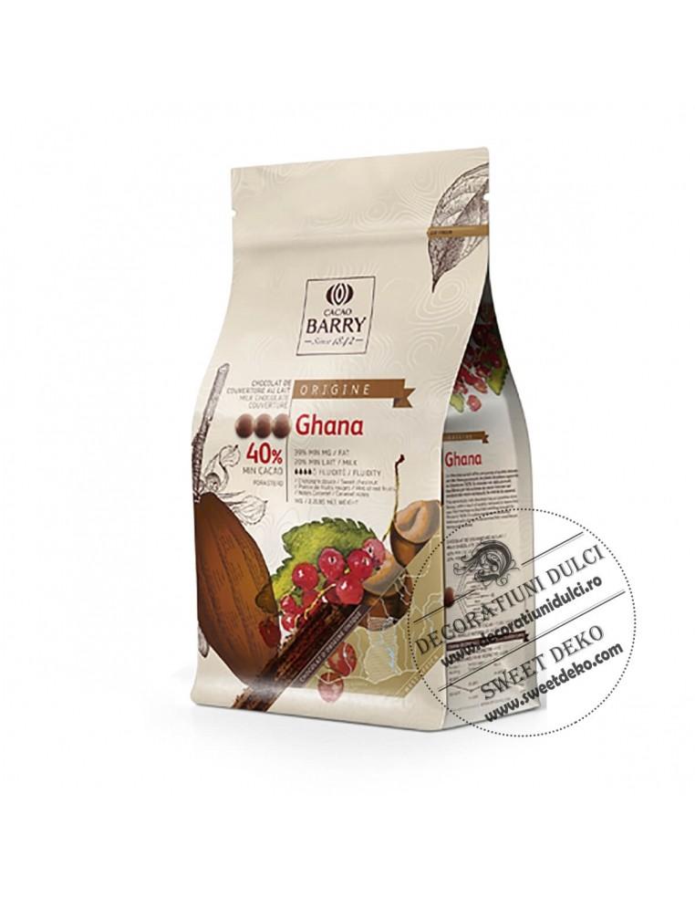 Ciocolata cu Lapte premium GHANA 40%,...