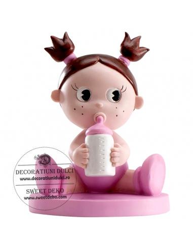 Topper fetita cu biberon
