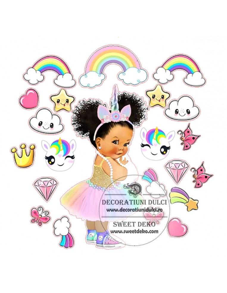 Imagine comestibila fetita unicorn