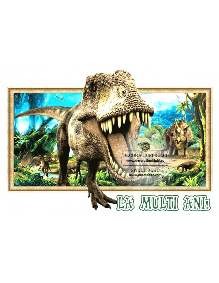 Imagine comestibila: Dinozaurul T Rex