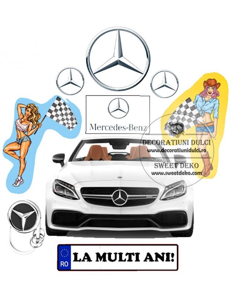 Imagine comestibila Mercedes & ladies