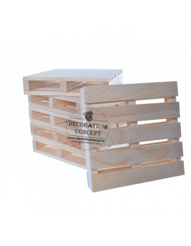 Suport din lemn tip mini palet (6...