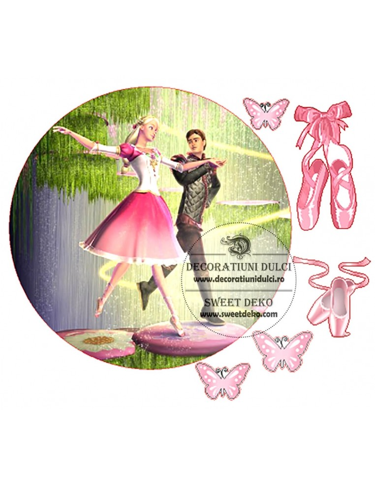 Imagine comestibila cerc Barbie Balerina
