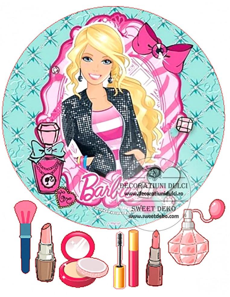 Imagine comestibila Barbie Fashion cerc