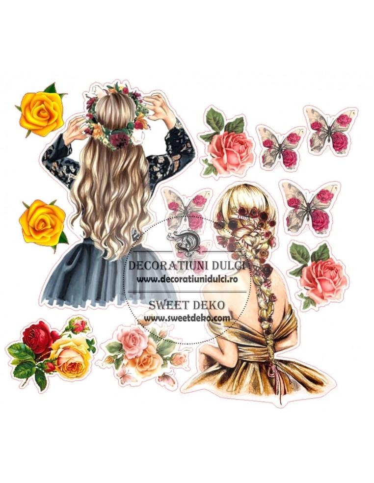 Imagine comestibila Flower Girls