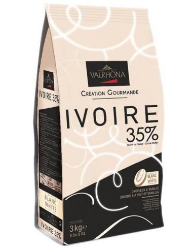 Ciocolata alba Ivoire 35% Valrhona 3kg
