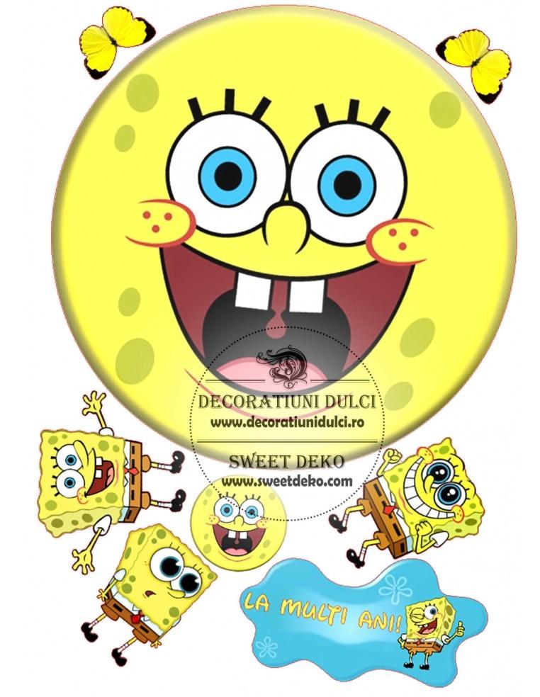 Imagine comestibila cerc cu SpongeBob