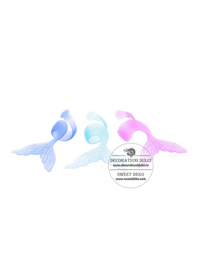 Toppers Mermaid Tail (3 buc.)