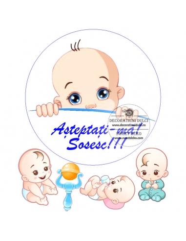 Imagine comestibila Sweet Baby Boy