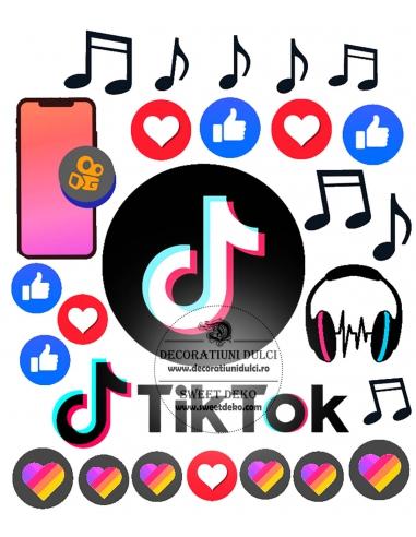 Imagine comestibila TikTok Party