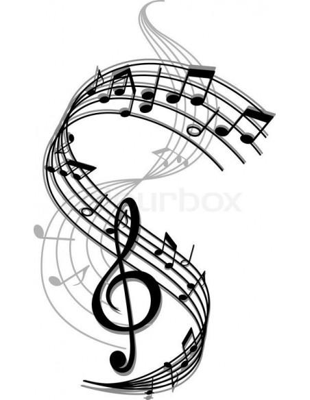 Muzica, portative, note muzicale, partituri